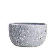 Cachepot em cerâmica cinza Granilite 20x11 cm
