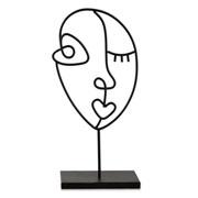 Escultura em metal face preta 30 cm