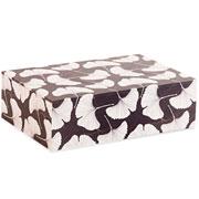 Caixa decorativa em MDF Estampado Cinza 30x20x09 cm
