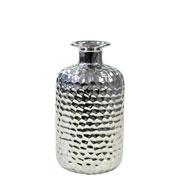 Vaso decorativo de cerâmica prata 19,5 cm