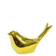 Pássaro dourado em cerâmica 6 cm