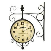 Relógio de estação London Station marrom 23 cm