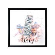 Quadro em canvas Preto Italy 40 cm