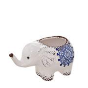 Cachepot elefante azul 16x09x09 cm