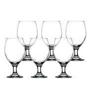 Jogo de taça de vidro para cerveja 400 ml 06 peças