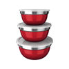 Conjunto Bowl colorido com tampa 03 pçs - Euro