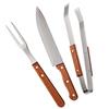 Kit para churrasco de madeira 03 peças - Euro