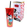 Copo com Canudo Mickey 650 ml